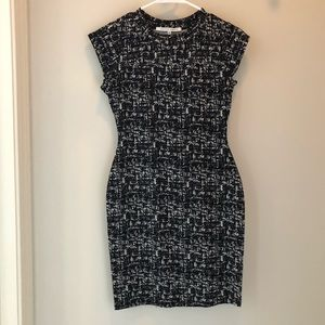 Black and white bodycon dress, never worn